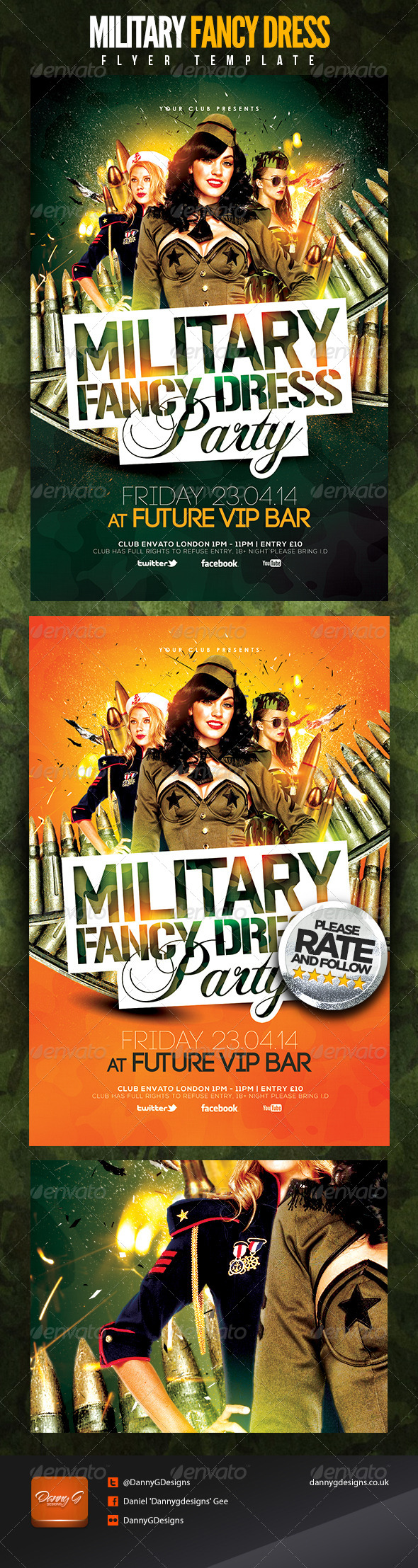 Military Fancy Dress Party - Clubs & Parties Events