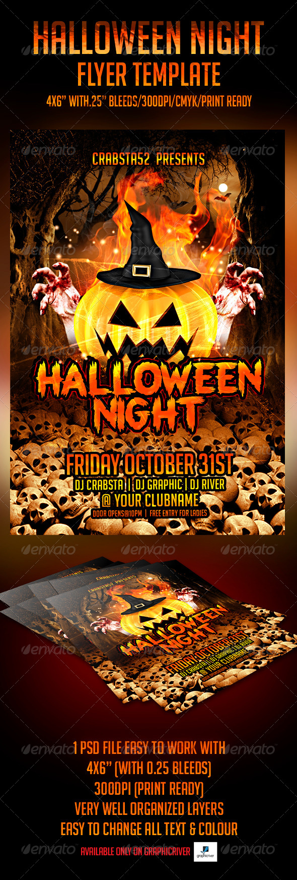 GraphicRiver Halloween Night Flyer Template 5447738