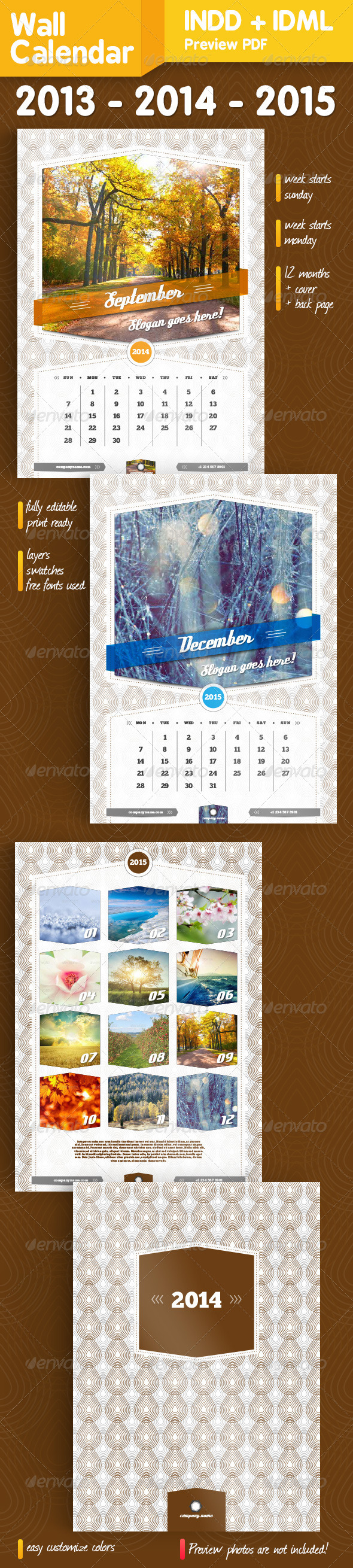 GraphicRiver Wall Calendar A3 14 pages 5461306