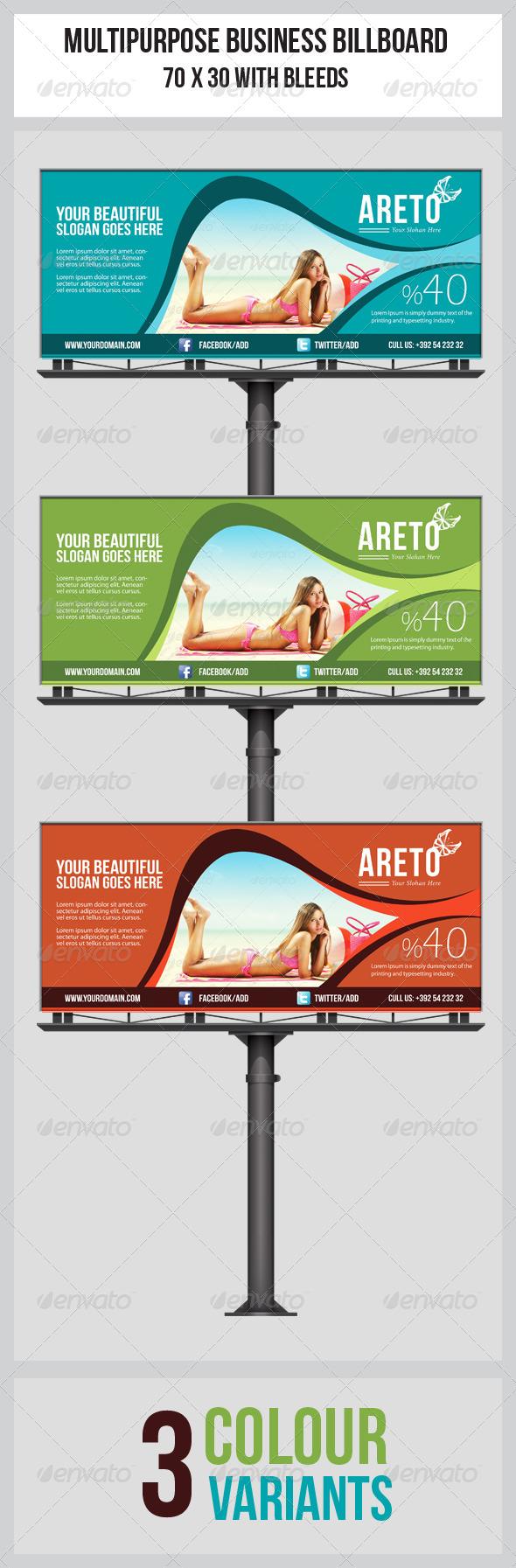 GraphicRiver Multipurpose Business Billboard Template 5417105