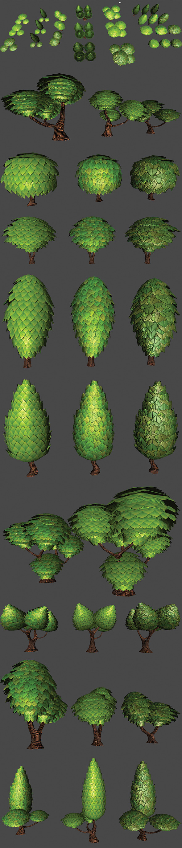 3DOcean Toon Trees Pack 5462513