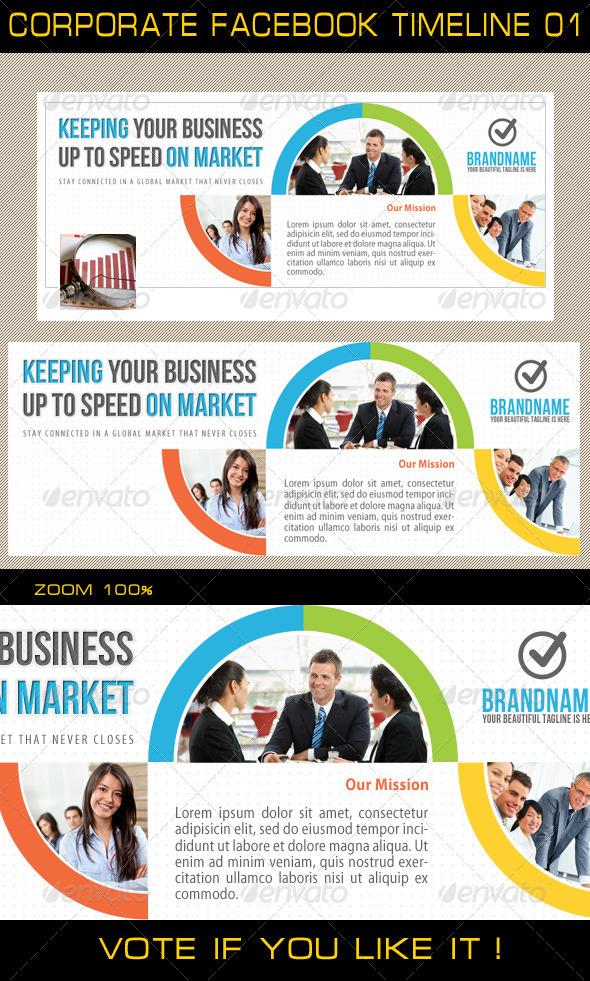 GraphicRiver Corporate Facebook Timeline 01 5462531