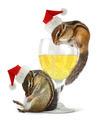 Funny drunk santas, chipmunks dress santa hat - PhotoDune Item for Sale