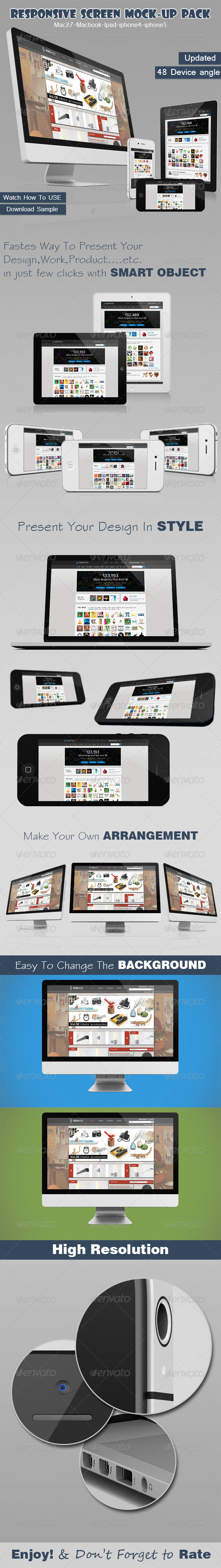 Responsive Screen Mock-up Pack - Multiple Displays