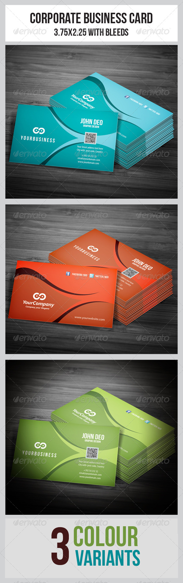 GraphicRiver Corporate Business Cards 5463351