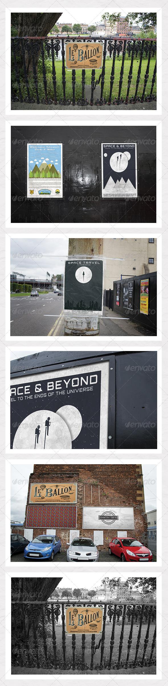 GraphicRiver Urban City Poster & Billboard Mock Ups 5434664