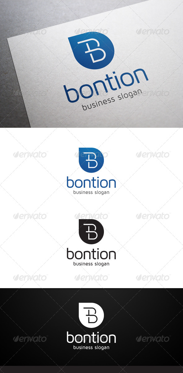 GraphicRiver Bontion B Letter Logo 5463833