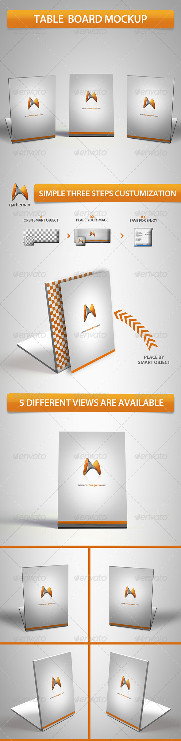 GraphicRiver Table Board Mockup 5463838