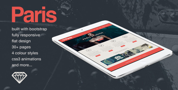 ThemeForest Paris Responsive HTML5 Template 5463894