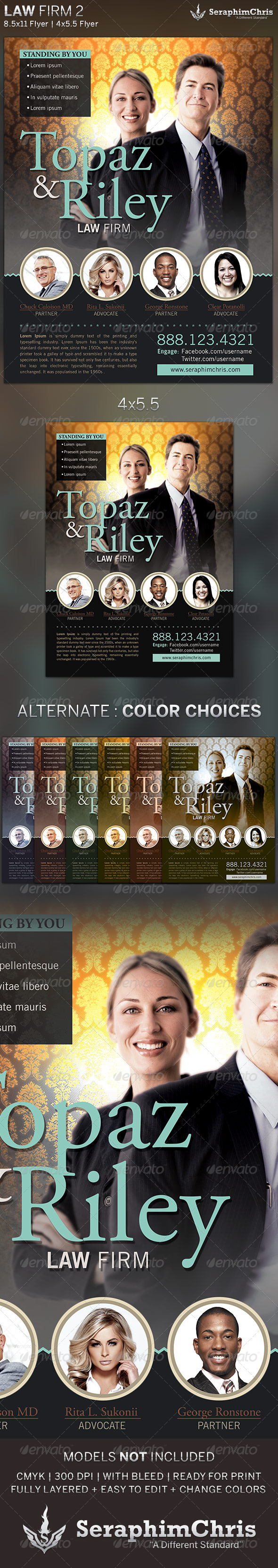 GraphicRiver Law Firm Flyer Template 2 5463976