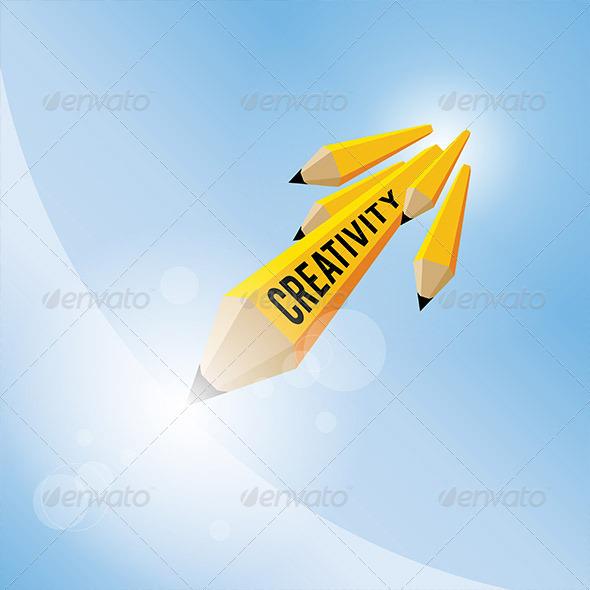 GraphicRiver Pencil Creativity Concept 5464447