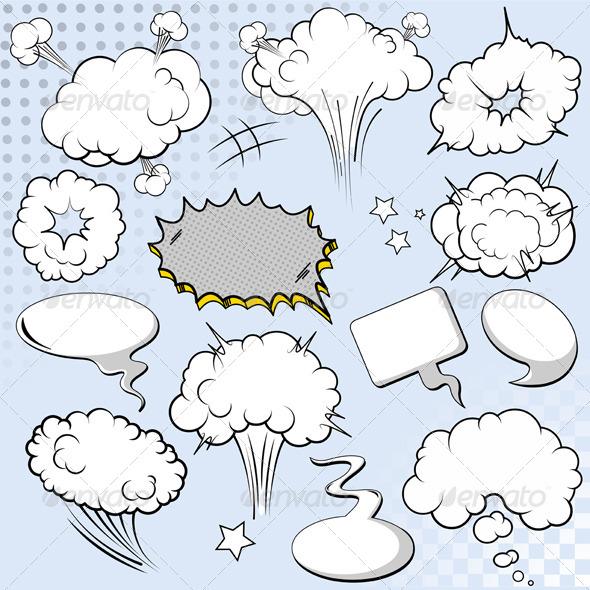 GraphicRiver Comics Style Speech Bubbles 5465174