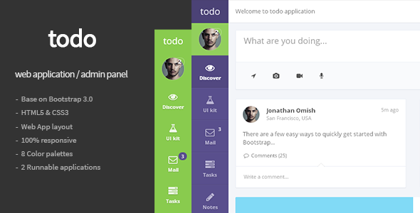 todo - Web Application and Admin Panel Template - Admin Templates Site Templates
