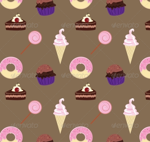 GraphicRiver Seamless Sweets Pattern 5465518