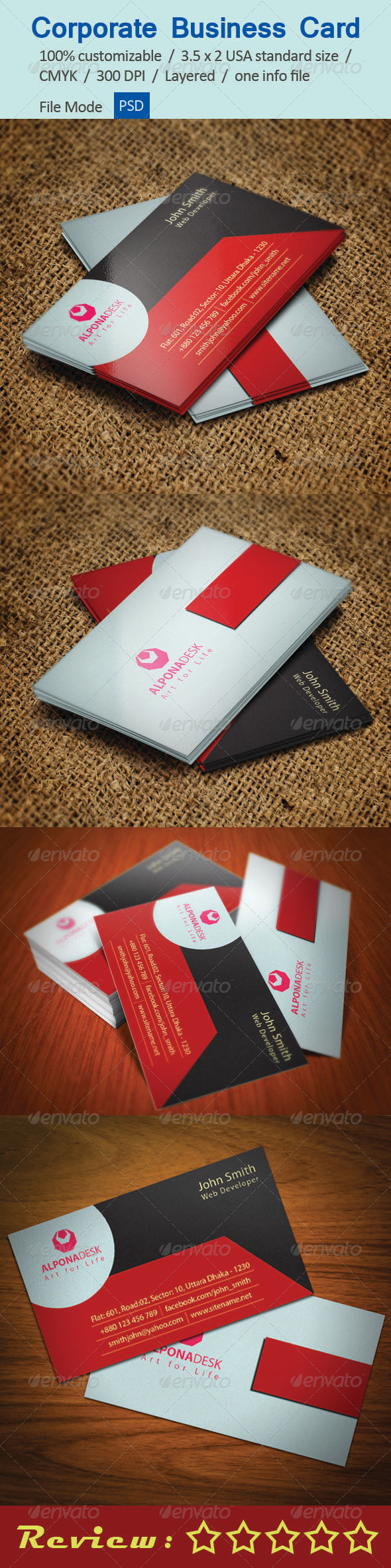 GraphicRiver Corporate Business Card V-1 5422445