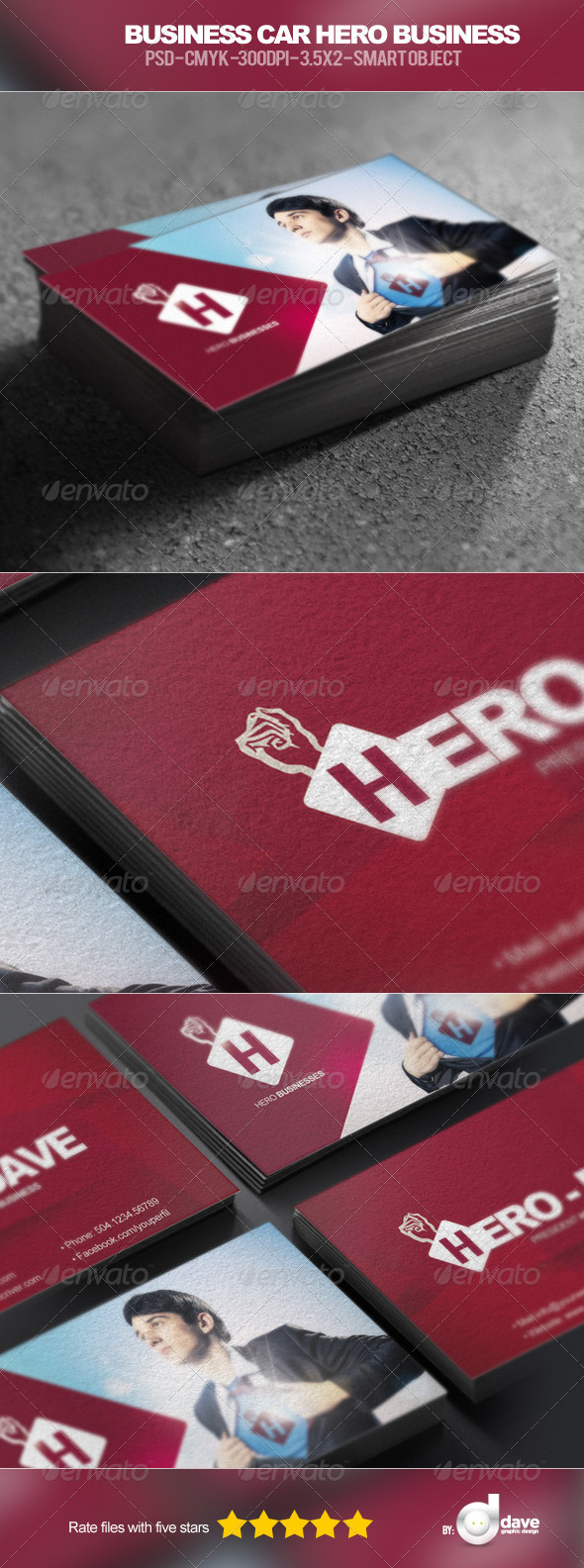 GraphicRiver Business Card Hero Businesses 5465912