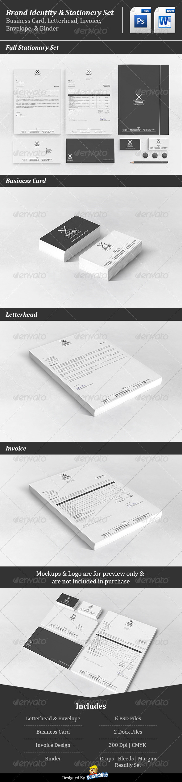Corporate Stationery Set - Stationery Print Templates