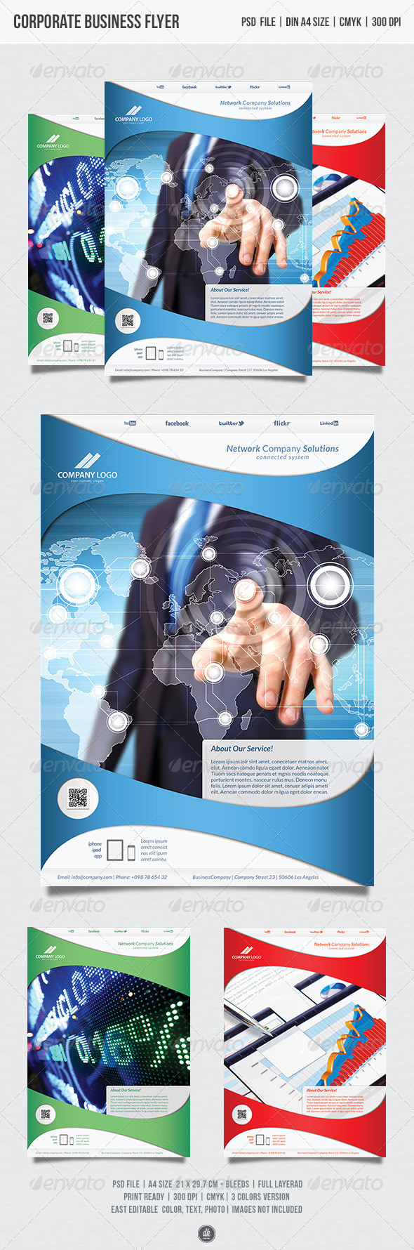 GraphicRiver Corporate Business Flyer Template 5466201