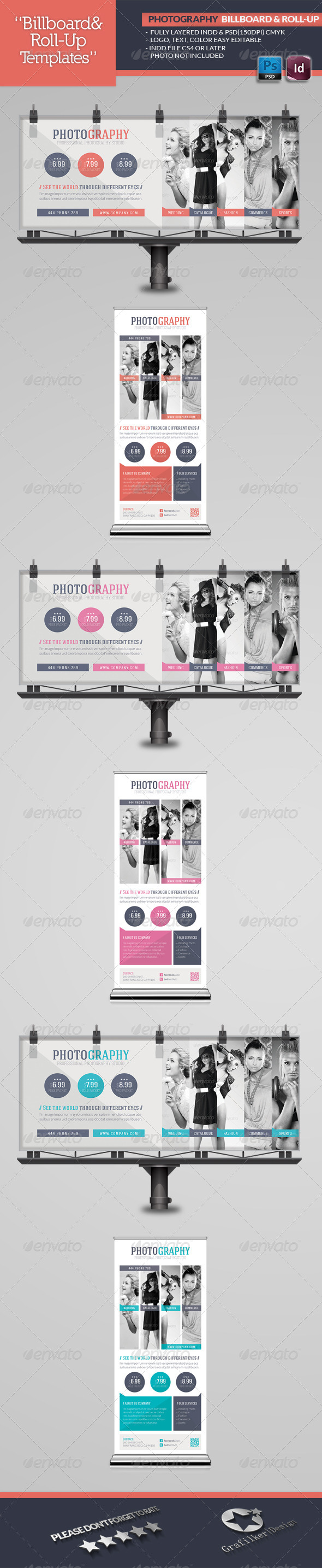 Photography Billboard & Roll-Up Template - Signage Print Templates