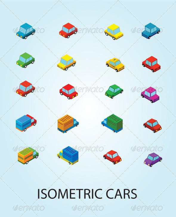 GraphicRiver Isometric Cars 5466217