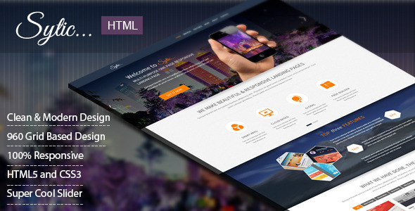 Sytic - One Page Responsive Multipurpose Template - Creative Landing Pages