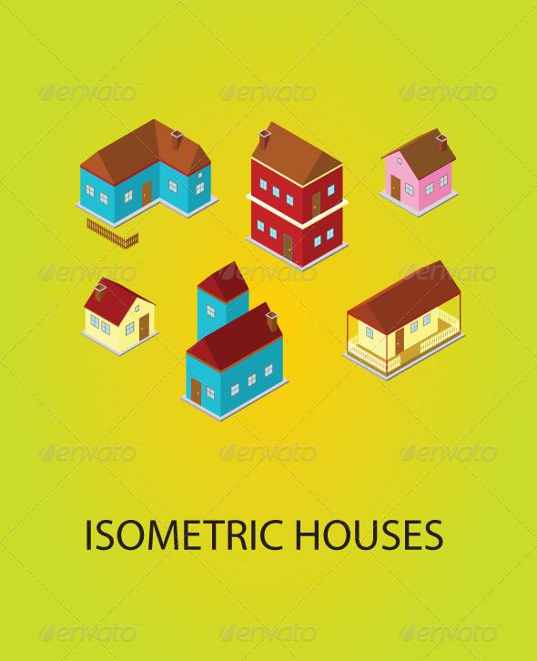 GraphicRiver Isometric Houses 5466279