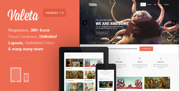 ThemeForest Valeta MultiPurpose WordPress Theme 5387827
