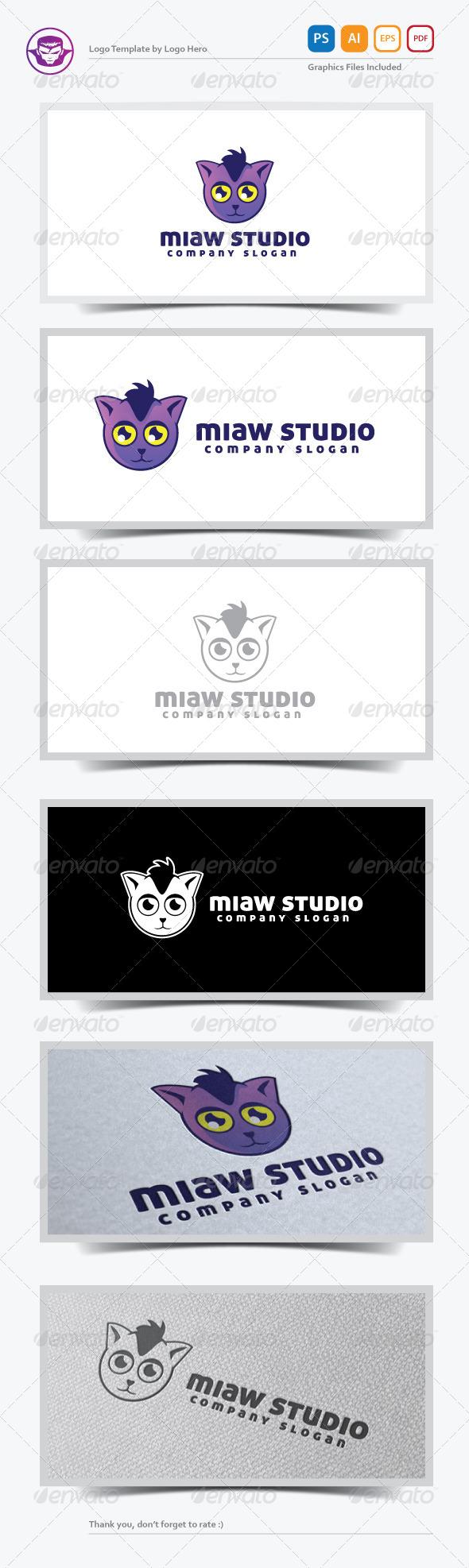 GraphicRiver Miaw Studio Logo Template 5466312