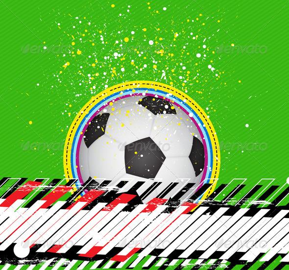 GraphicRiver Soccer Grunge Background 5466362
