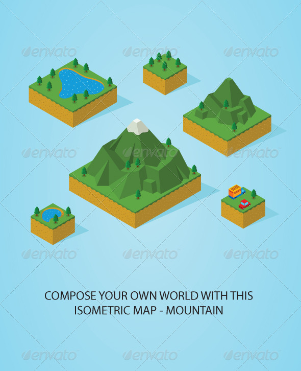 GraphicRiver Pre Assembly Isometric Map-Mountain 5466375