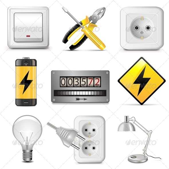 GraphicRiver Vector Electrical Icons 5466455
