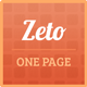 Zet Responsive One Page Template - ThemeForest Item for Sale