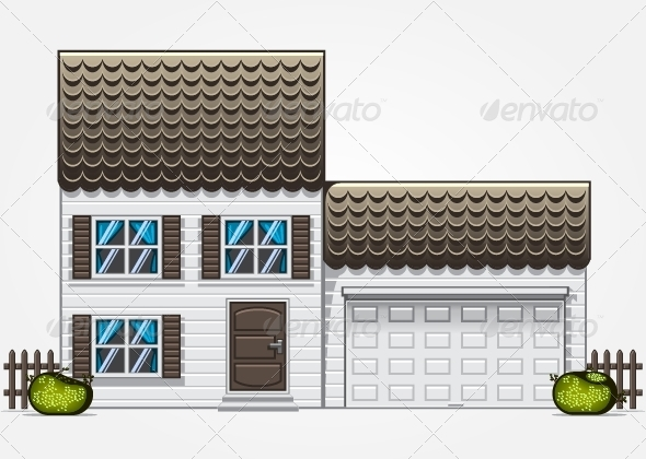GraphicRiver House with Garage 5466605