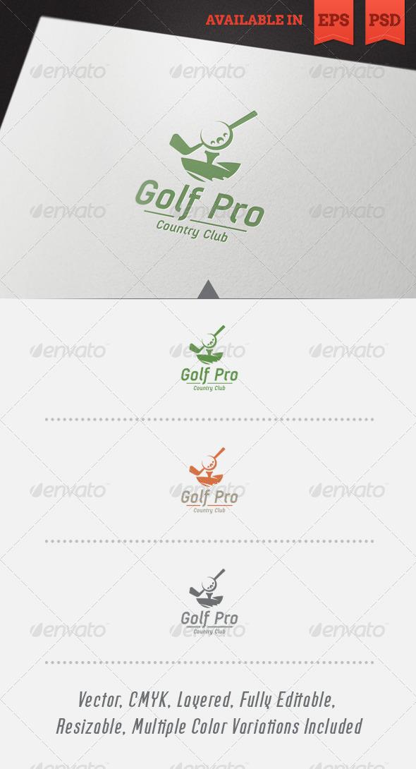 GraphicRiver Golf Pro Logo Template 5466610
