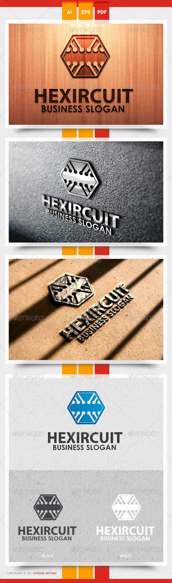 GraphicRiver Hexircuit Logo Template 5466769