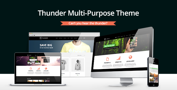 ThemeForest Thunder Responsive Multi-Purpose Theme 5466969