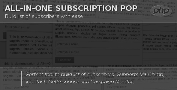 All-in-One Subscribe Popup v2.0 | CodeCanyon