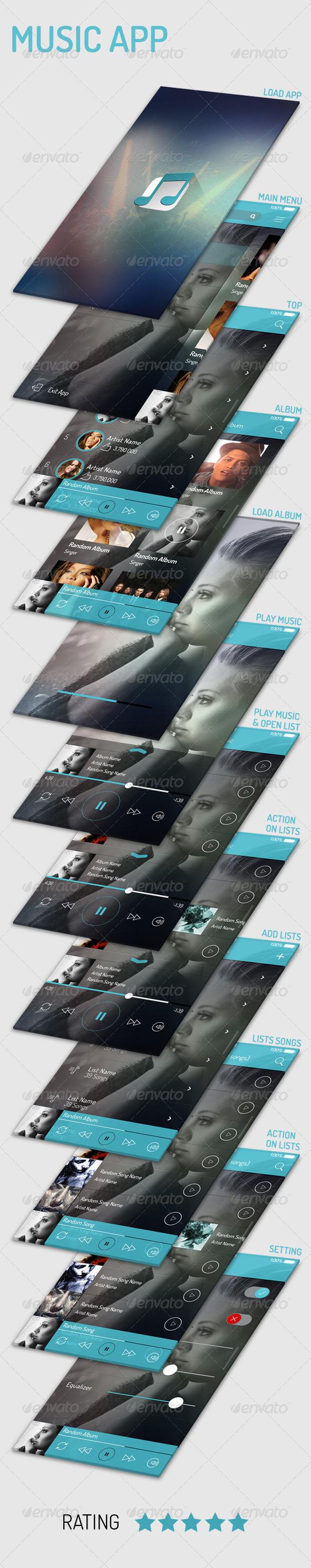 GraphicRiver Music App 5454917