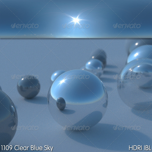 HDRI IBL 1109 Clear Blue Sky - 3DOcean Item for Sale