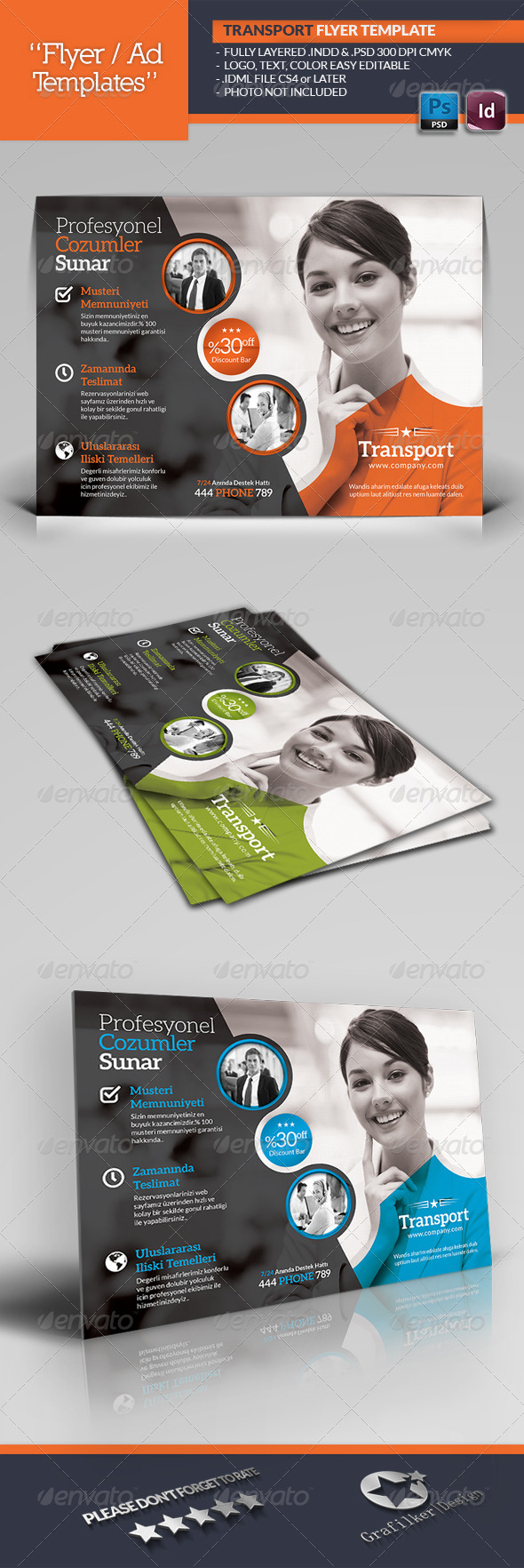 GraphicRiver Transport Flyer Template 5373865