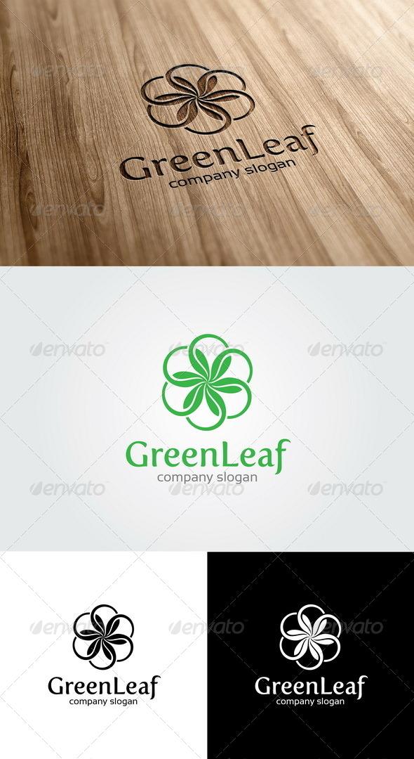 GraphicRiver Green Leaf Logo 5467675