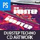 Dubstep, Techno, Rave CD Template