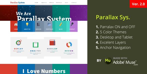 Parallax System   One Page Parallax Portfolio (Creative)   ThemeForest