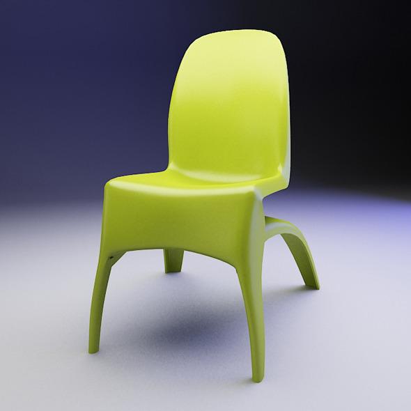 3DOcean Plastic Mario Chair 5454331