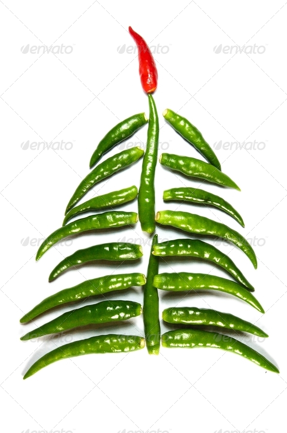 Chili New Year Tree - Stock Photo - Images