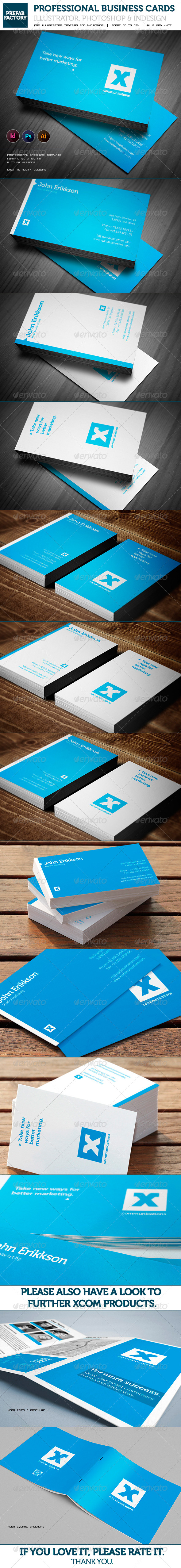 GraphicRiver Blue Business Card 5467855