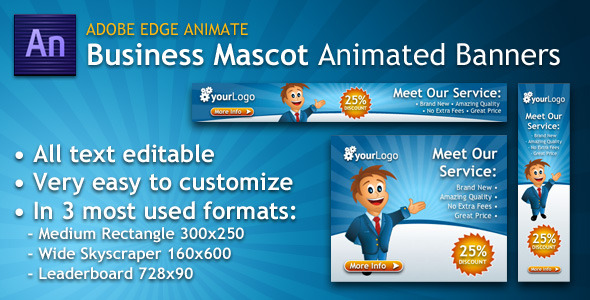 CodeCanyon Business Mascot Animated Banner 5467922