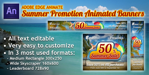 Summer Promotion Animated Banner