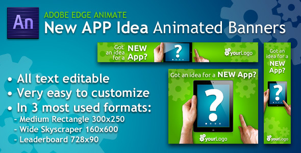 CodeCanyon New App Idea Animated Banner 5467950