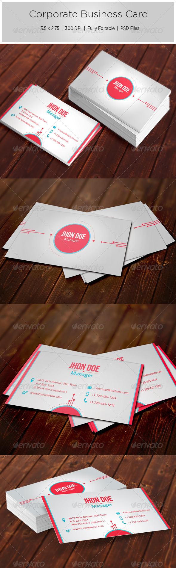 GraphicRiver Corporate Business Card 5468115